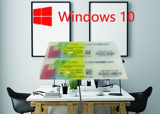 China Windows Product Key Sticker Win 10 Pro COA X20 100% Online Activate 32/64bit OEM License Key Code factory