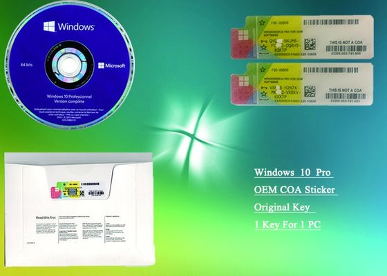 China Microsoft Windows 10 Pro COA Sticker Online Activate French 100% Original factory
