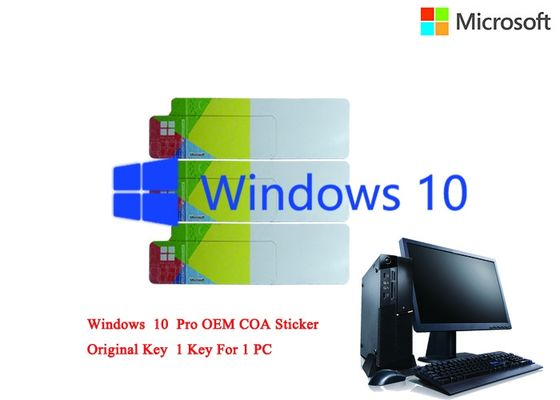 China Korean Language Windows 10 Pro COA Sticker License Online Activate Genuine Customizable FQC factory