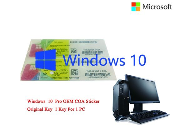 China Japanese Language COA Sticker Windows 10 Pro Online Activate Licence Sticker factory