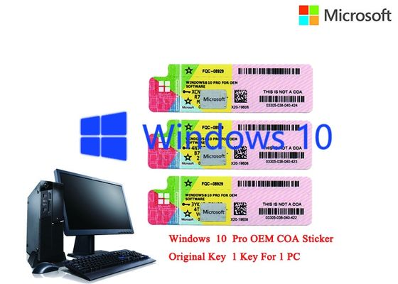 China Spanish Language Windows 10 Pro COA Sticker 32/64Bit Original Online Activation factory