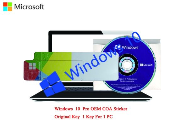 China Polish Language MS Windows 10 Pro COA Sticker 64bit Online Activate COA X20 factory