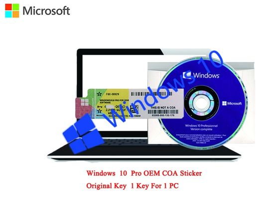 China Microsoft Windows 10 Pro COA Sticker German Language 64bit Online Activation For Computer factory