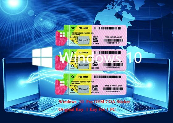 China Genuine Windows 10 Pro COA 32 bit x 64 Bit Multi Language License Version Activation factory