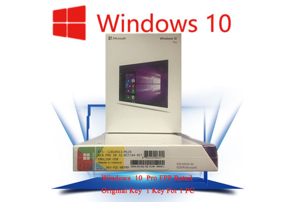 China 100% Original Windows 10 FPP Package Genuine Software Customizable FQC factory