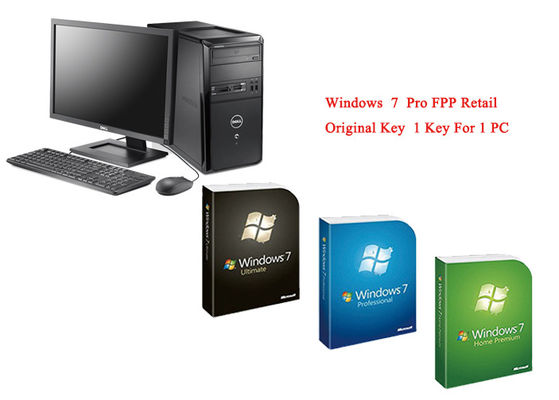 Microsoft Windows 7 Pro Pack Online Activate Customizable FQC Genuine FPP Retail