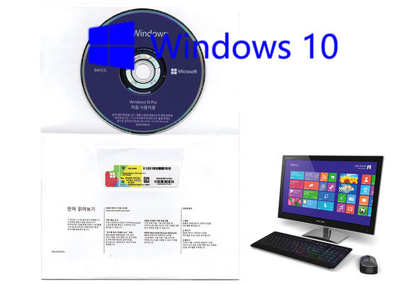China Korean Language Microsoft Win10 Pro OEM 64 Bit Software Full Version Activation Online factory