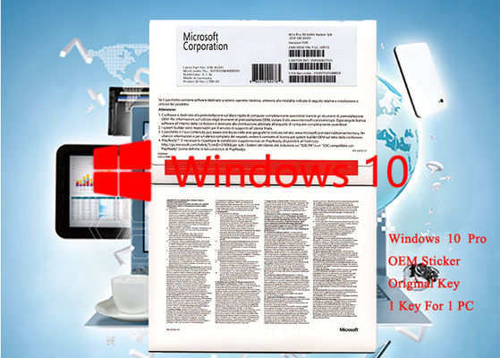 China Italian Language Microsoft Windows 10 Pro OEM Sticker 64 Bit Software Brand new Activation Online factory