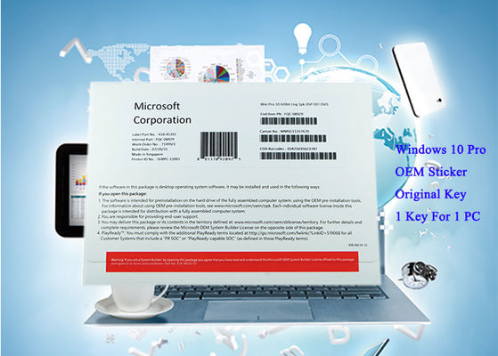 China English Version Pack Windows 10 Pro OEM Sticker Computer System 1pk DSP DVD factory
