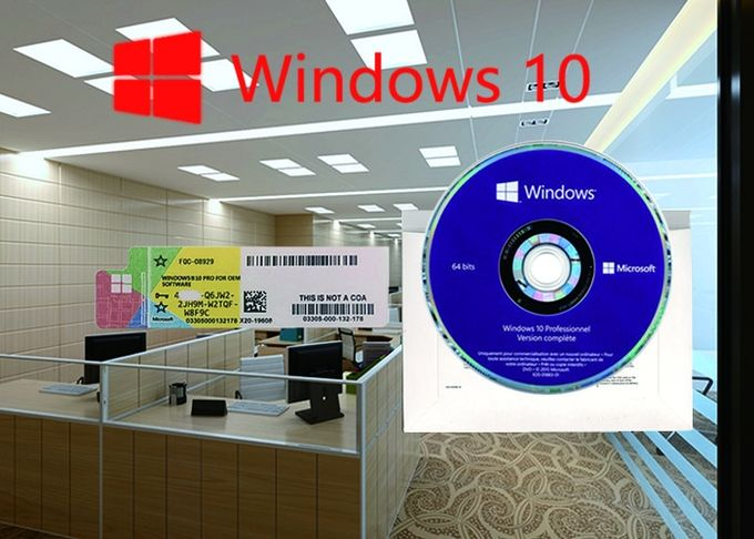 100% Genuine Win 10 Pro COA Sticker Multi Language Customizable FQC