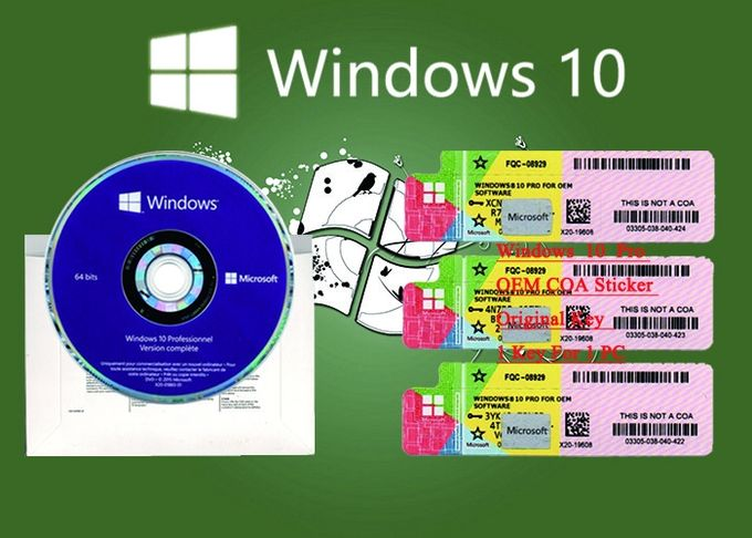 Spanish Language Windows 10 Pro COA Sticker 32/64Bit Original Online Activation
