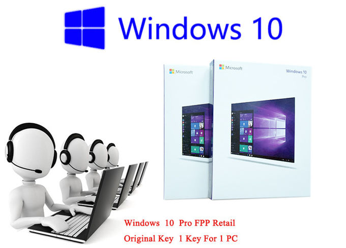 Microsoft Windows 10 FPP Customizable FQC Win 10 Pro Retail Box Online Activation