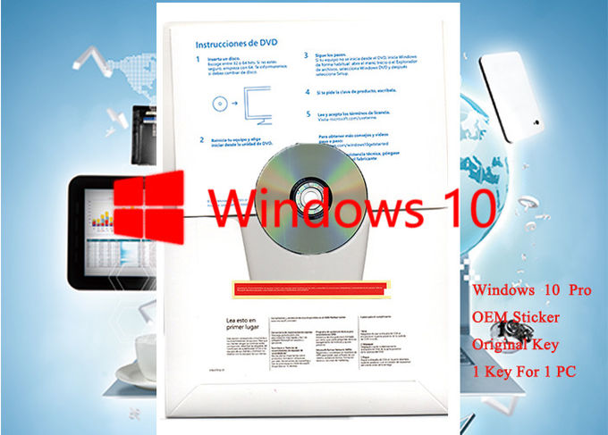 Computer Software Windows 10 Pro OEM Sticker 64 Bit Key Professional With OEM Version Spanish