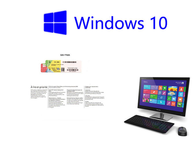 Original Software 1pk DSP DVD Windows 10 Pro OEM Sticker Packaging French 64bit